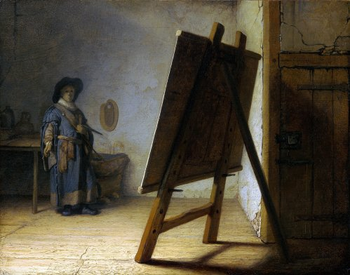 Rembrandt_The_Artist_in_his_studio